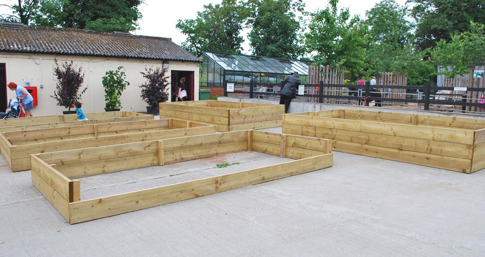 Capel Manor - raised beds