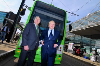 Boris Johnson and Steve O'Connell - Talking trams